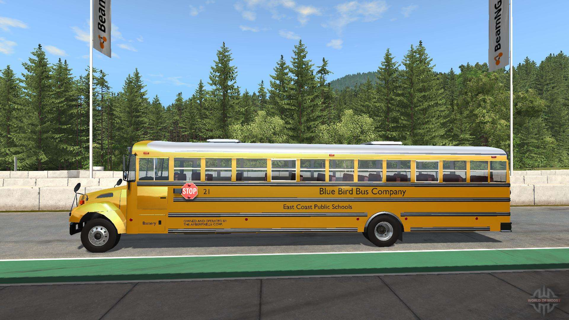 Blue Bird American School Bus V For BeamNG Drive - Minecraft bus spiele