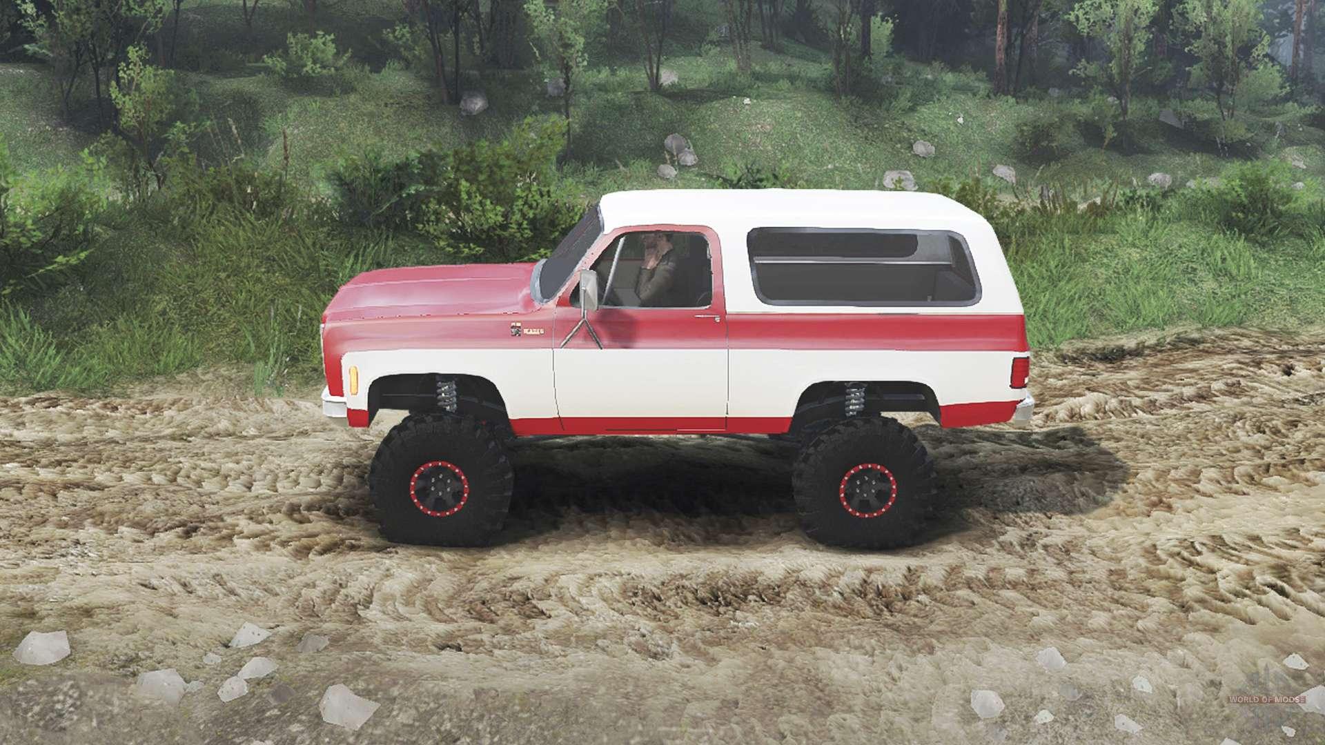 Chevrolet K5 Blazer 1975 [red and white] for Spin Tires