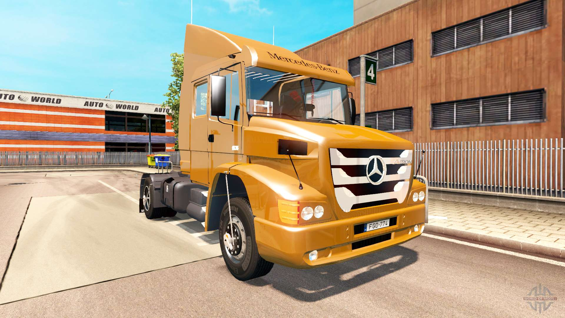 mercedes benz atron 1635 for euro truck simulator 2