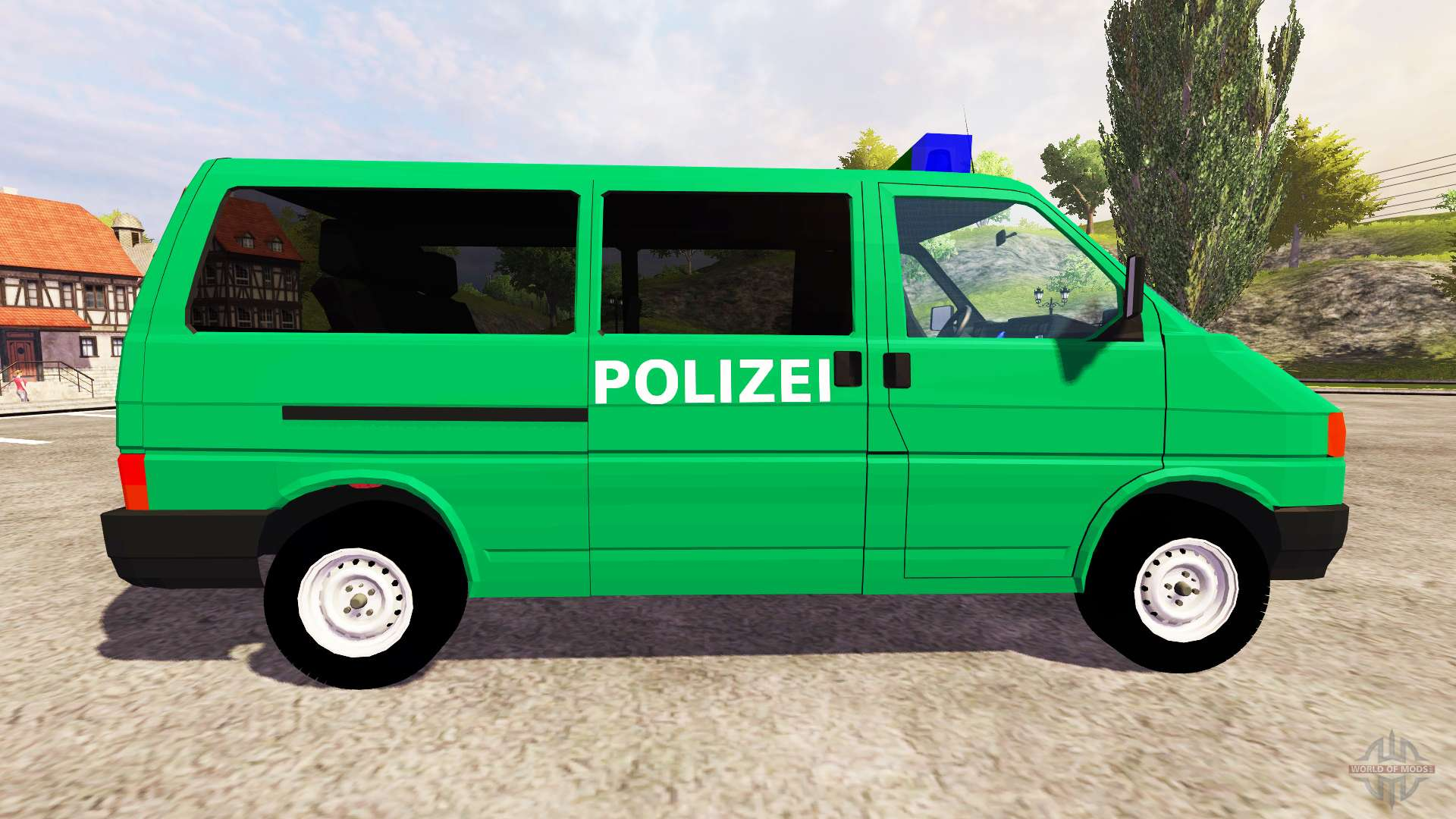 volkswagen transporter t4 police for farming simulator 2013. Black Bedroom Furniture Sets. Home Design Ideas