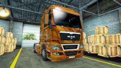 Skin Olive Wood on the truck MAN for Euro Truck Simulator 2