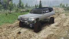 Cadillac Hearse 1975 [monster] [gray] for Spin Tires