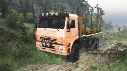 KamAZ-6520 [orange] [08.11.15] for Spin Tires