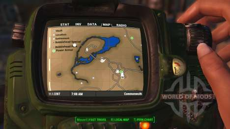 Colorful map with Locations for Fallout 4