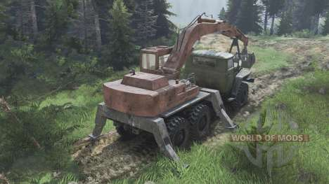 Ural-4320 with new loaders [08.11.15] for Spin Tires