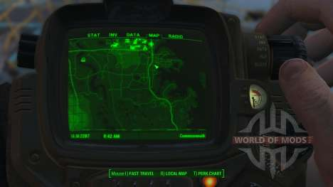 Improved map for Fallout 4