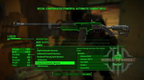 Overpowered Weapon mods for Fallout 4