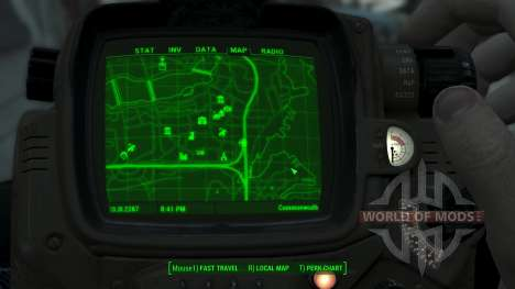 Immersive Map 4k - BLUEPRINT Inv. - Big Squares for Fallout 4