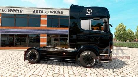 BlackBerry skin for Scania truck for Euro Truck Simulator 2