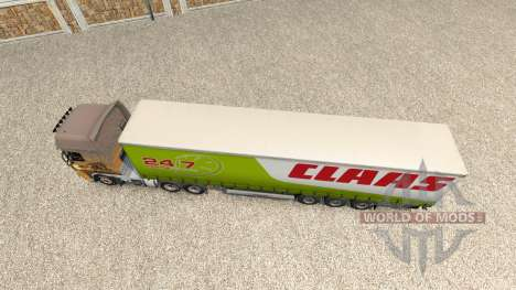 Skin for CLAAS trailer for Euro Truck Simulator 2