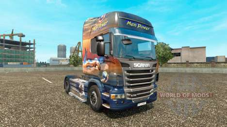 Men Power skin for Scania truck for Euro Truck Simulator 2