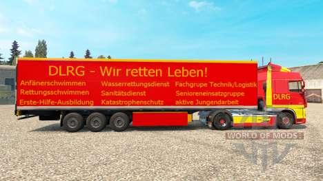 DLRG skin for DAF truck for Euro Truck Simulator 2