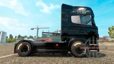 The fast and the furious 6 skin for Scania truck for Euro Truck Simulator 2