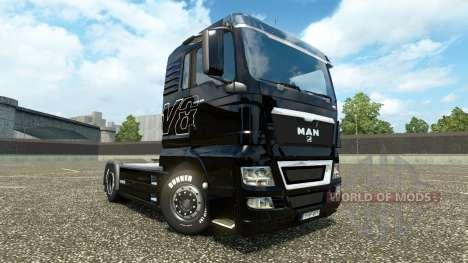 The skin on the V8 truck MAN v2.0 for Euro Truck Simulator 2