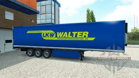 Skin Walter on the trailer for Euro Truck Simulator 2