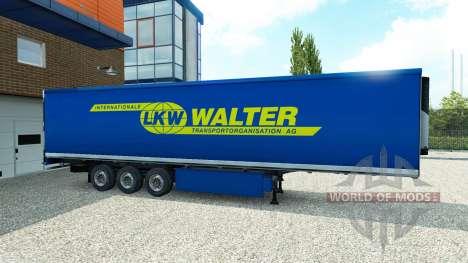 Skin Walter on the trailer for Euro Truck Simulator 2