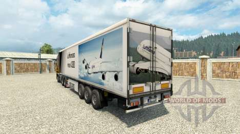 Skin A380 on the trailer for Euro Truck Simulator 2