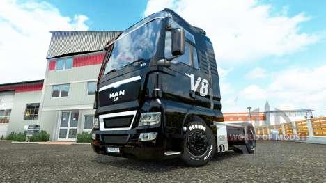 V8 skin for MAN trucks for Euro Truck Simulator 2
