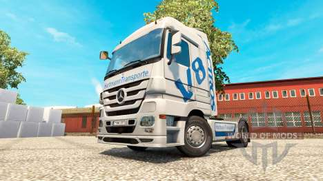 Hartmann Transporte skin for truck Mercedes-Benz for Euro Truck Simulator 2