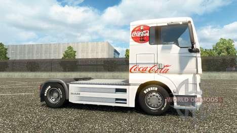 Skin Coca-Cola on the truck MAN for Euro Truck Simulator 2