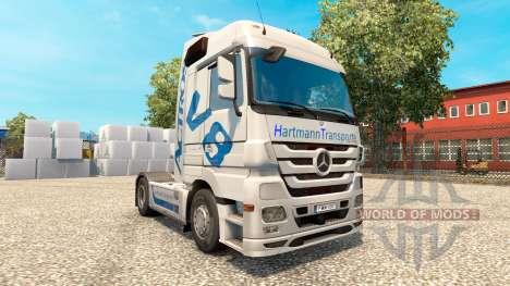 Hartmann Transporte skin for truck Mercedes-Benz for Euro Truck Simulator 2