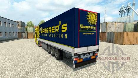 Waberers skin for MAN trucks for Euro Truck Simulator 2