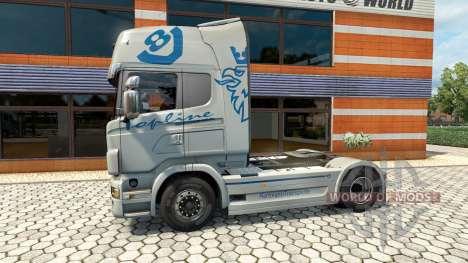 Hartmann Transporte skin for Scania truck for Euro Truck Simulator 2