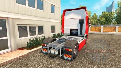 The skin on the Hasseroeder DAF truck for Euro Truck Simulator 2