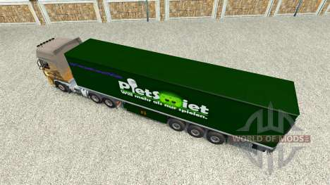 PietSmiet skin on the trailer for Euro Truck Simulator 2