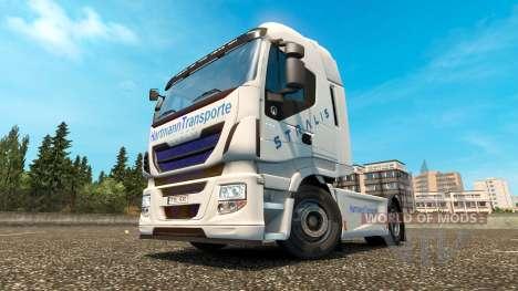 Hartmann Transporte skin for Iveco tractor unit for Euro Truck Simulator 2