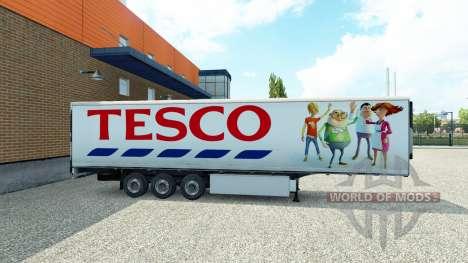 Tesco skin on the trailer for Euro Truck Simulator 2