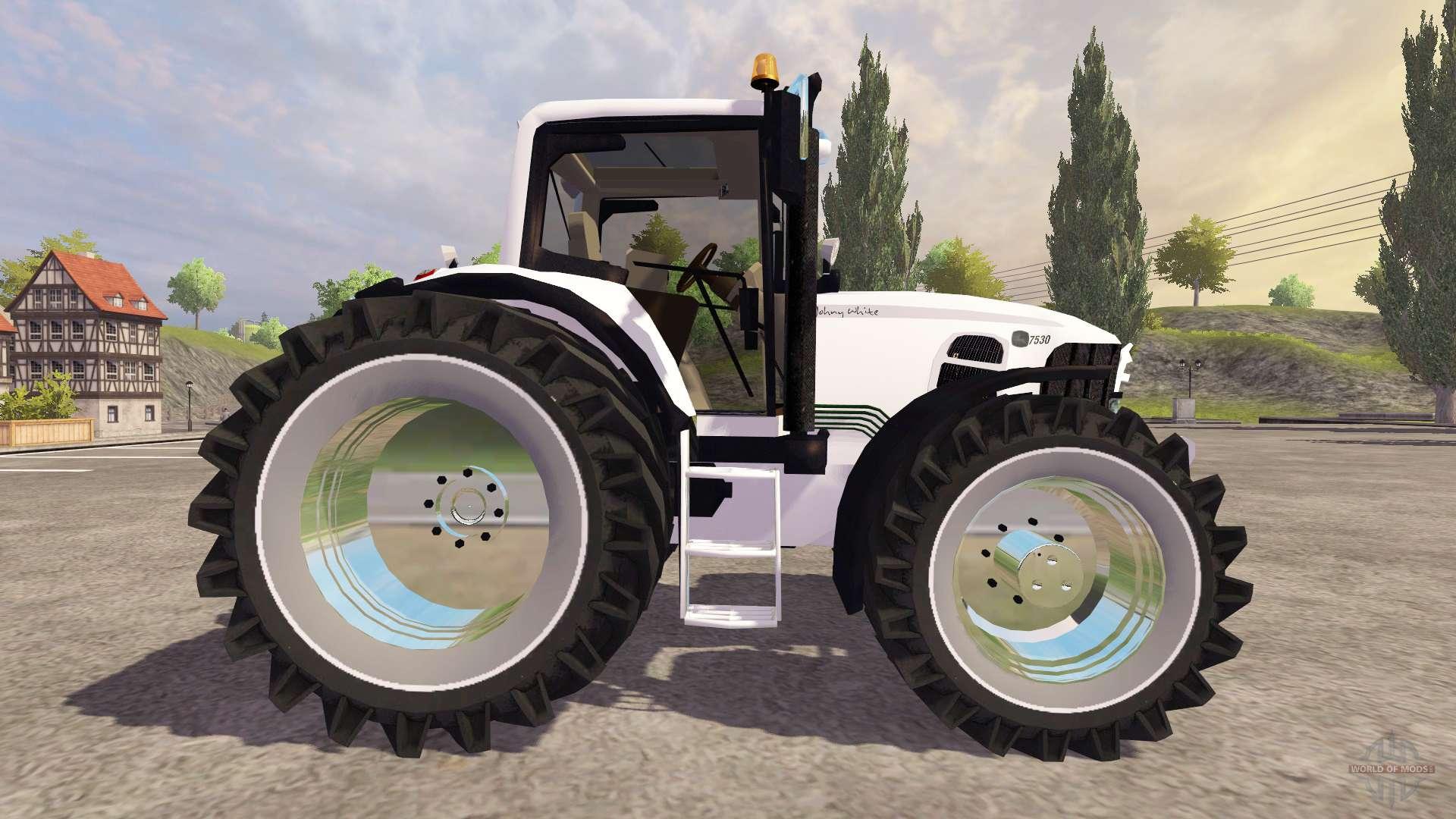 John Deere 7530 Premium [white chrom edition] for Farming Simulator
