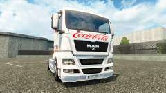 Skin Coca-Cola on the truck MAN