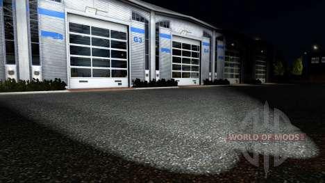 Rear fog lights for Euro Truck Simulator 2