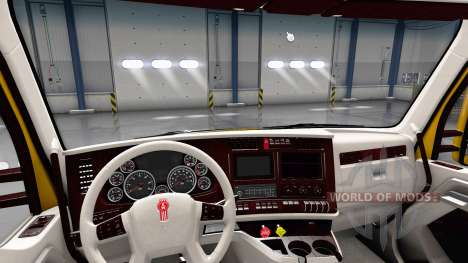 White Kenworth T680 interior for American Truck Simulator