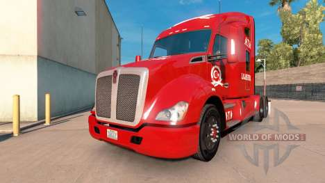 ATA Lojistik skin for Kenworth tractor for American Truck Simulator