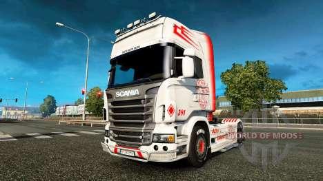Vabis skin for Scania truck for Euro Truck Simulator 2