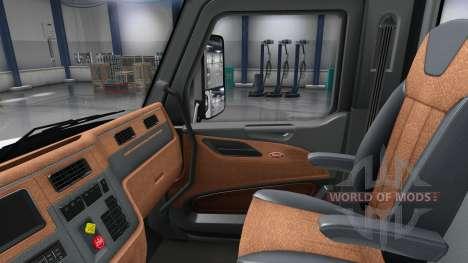 Updated interior in a Peterbilt 579 for American Truck Simulator