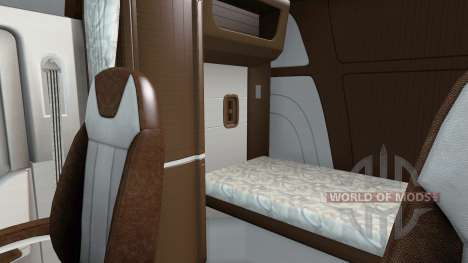 The new color Peterbilt 579 interior for American Truck Simulator