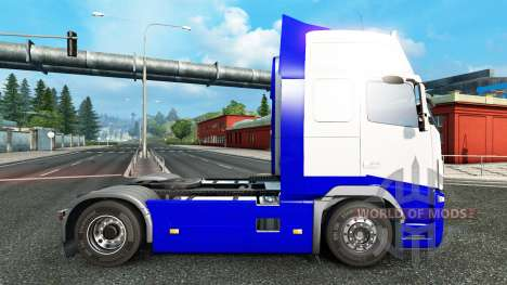 Skin Blue-White in the Volvo for Euro Truck Simulator 2