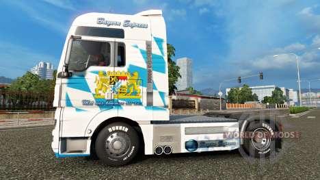 Skin Bavaria Express on the truck MAN for Euro Truck Simulator 2
