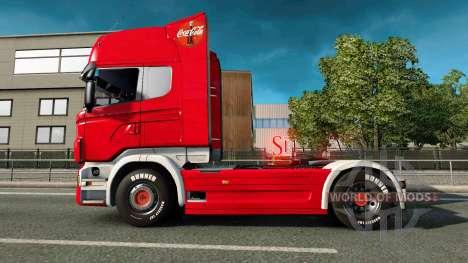 Skin Coca-Cola truck Scania for Euro Truck Simulator 2