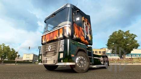 Tiger skin for Renault truck for Euro Truck Simulator 2