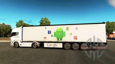Google skin for Scania truck for Euro Truck Simulator 2