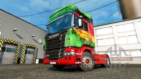 The skin Lower on the tractor unit Scania for Euro Truck Simulator 2