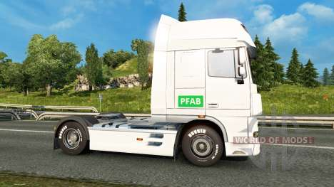Skin PFAB on tractor DAF for Euro Truck Simulator 2