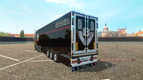 Skin for Scania V8 Schmitz trailer for Euro Truck Simulator 2