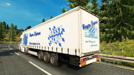 Bavaria Express skin for Scania truck for Euro Truck Simulator 2