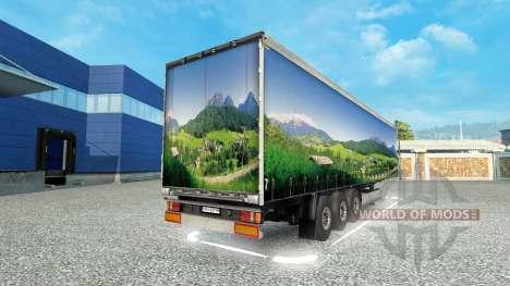 Skin Landscape on the trailer for Euro Truck Simulator 2