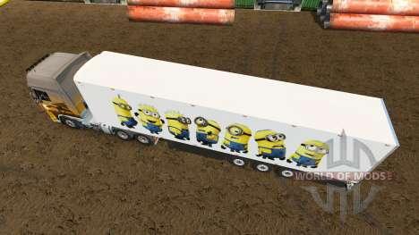Skin for the Minion Fan trailer for Euro Truck Simulator 2
